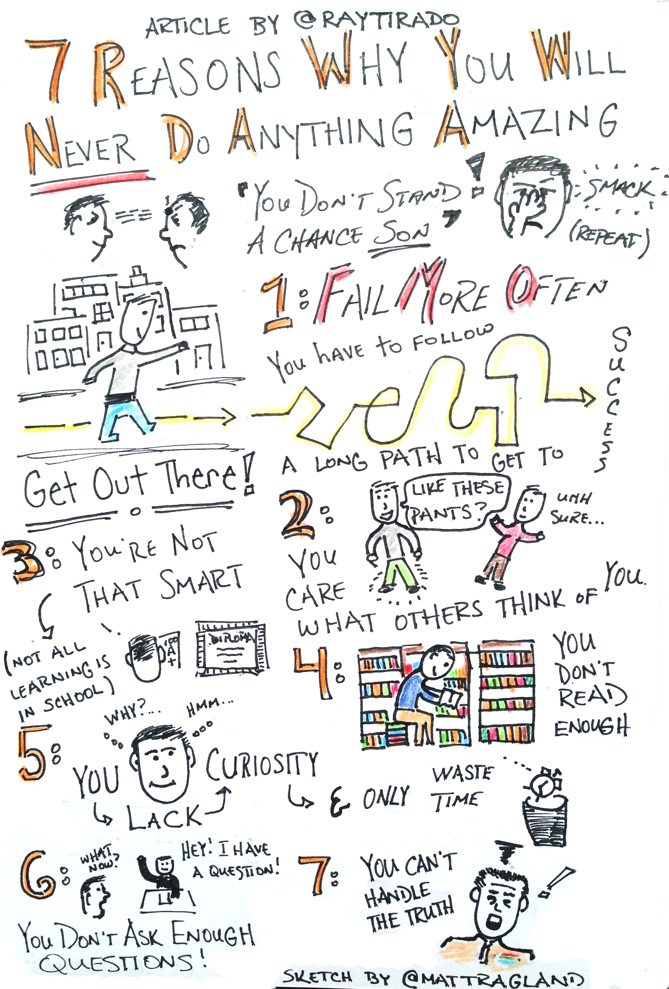 Sketchnote Saturday: Why You Will Never Do Anything Amazing With Your Life
